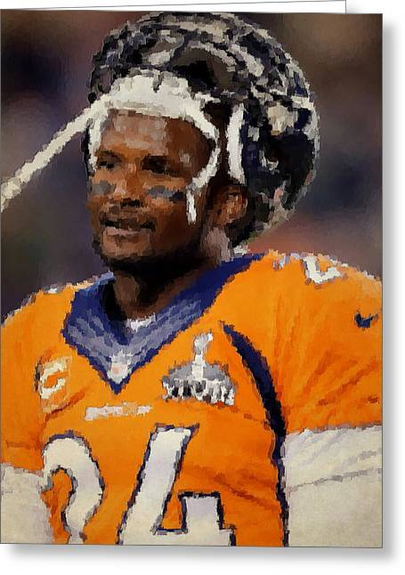 Broncos Greeting Cards - Denver Broncos Greeting Card by Joe Hamilton