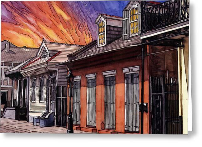 Louisiana Drawings Greeting Cards - 66 Greeting Card by John Boles