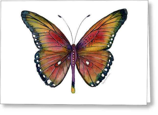 66 Spotted Wing Butterfly Greeting Card by Amy Kirkpatrick