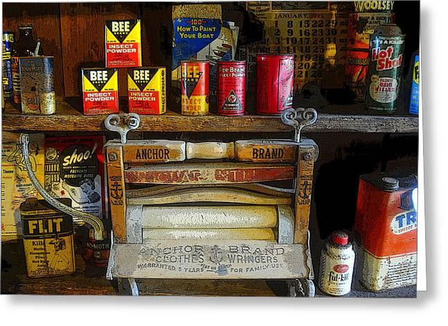Old Washboards Photographs Greeting Cards - The old stuff Greeting Card by David Lee Thompson