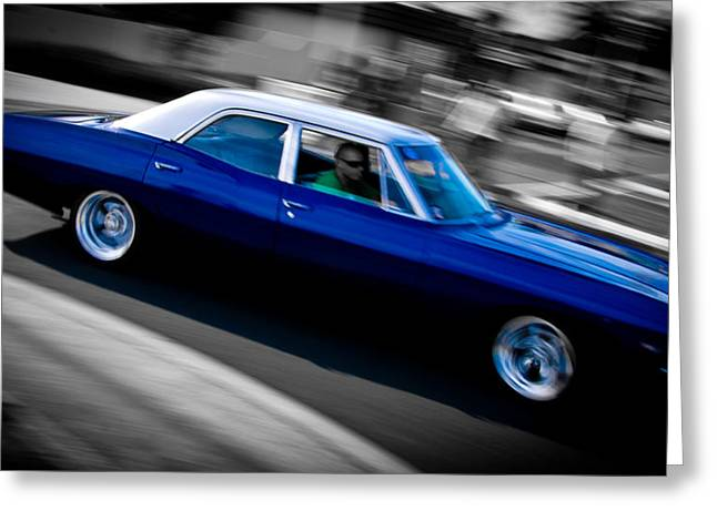Phil Motography Clark Greeting Cards - 67 Chev Impala Greeting Card by Phil