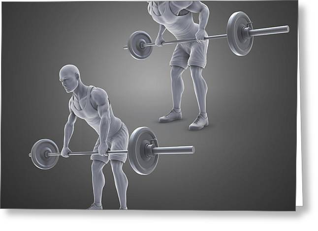 Physical Body Greeting Cards - Exercise Workout Greeting Card by Science Picture Co