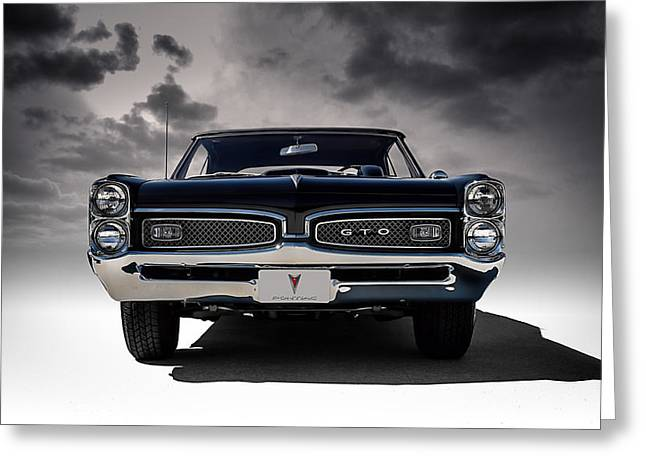 Man Greeting Cards - 67 Gto Greeting Card by Douglas Pittman