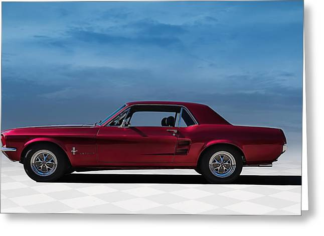 Classic Digital Greeting Cards - 67 Mustang Greeting Card by Douglas Pittman
