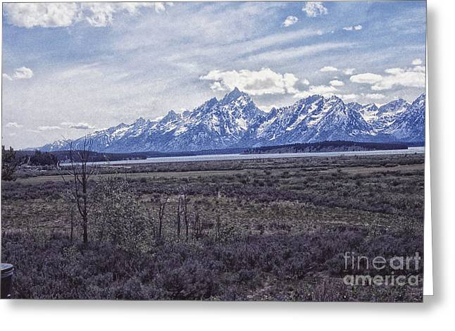Field. Cloud Greeting Cards - 677 sl The Grand Tetons Greeting Card by Chris Berry