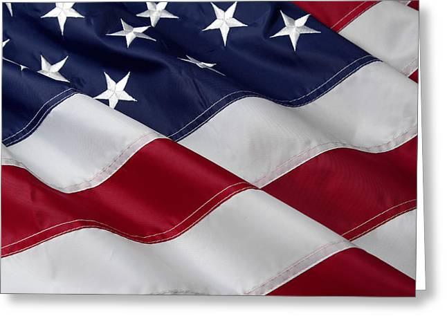 American flag Greeting Card by Les Cunliffe
