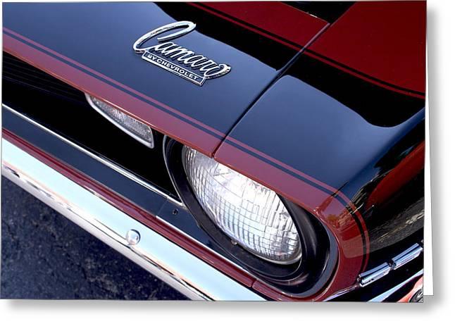 1968 Camaro Greeting Cards - 68 Camaro Greeting Card by Mike Maher