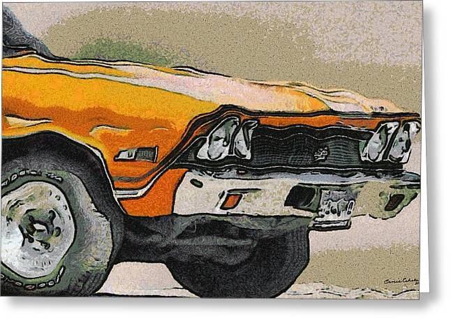 68 Greeting Cards - 68 Chevelle Abstract Greeting Card by Ernie Echols