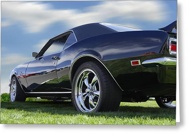 Chrome Greeting Cards - 68 Chevrolet Camaro Greeting Card by Mike McGlothlen