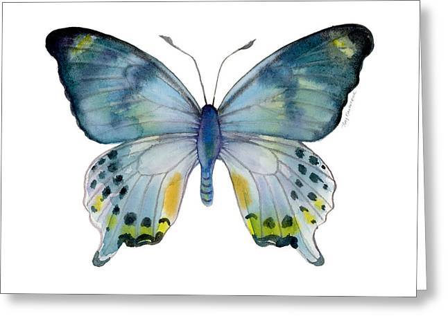Background Paintings Greeting Cards - 68 Laglaizei Butterfly Greeting Card by Amy Kirkpatrick