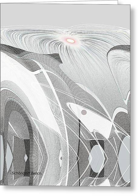 Inuu Greeting Cards - 683 -  Arctic  Spring  Greeting Card by Irmgard Schoendorf Welch