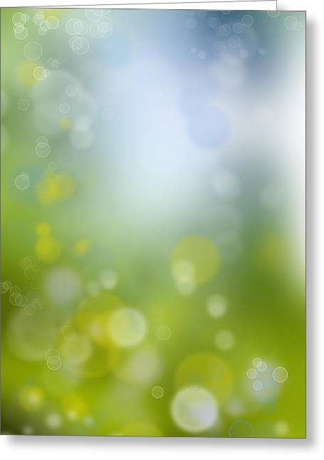 Glowing Water Greeting Cards - Abstract background Greeting Card by Les Cunliffe
