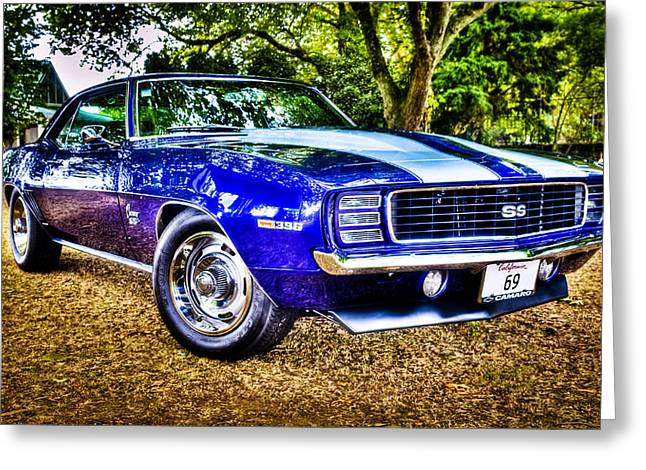 Motography Photographs Greeting Cards - 69 Chevrolet Camaro - HDR Greeting Card by motography aka Phil Clark