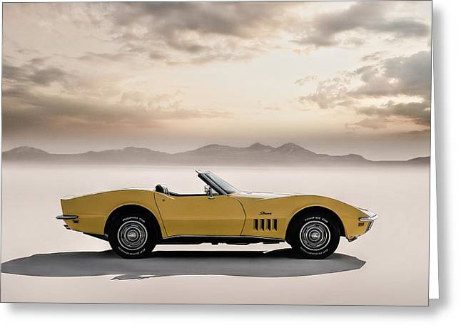 Cave Digital Art Greeting Cards - 69 Corvette Greeting Card by Douglas Pittman