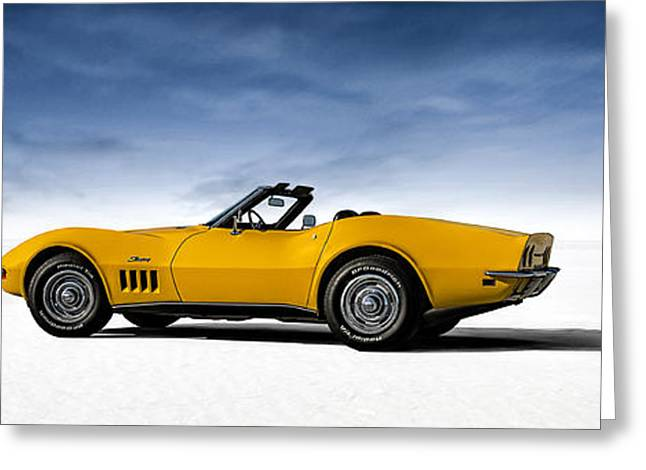 Car Shows Greeting Cards - 69 Corvette Sting Ray Greeting Card by Douglas Pittman