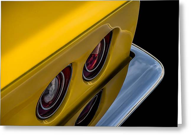 Detail Digital Art Greeting Cards - 69 Corvette Tail Lights Greeting Card by Douglas Pittman