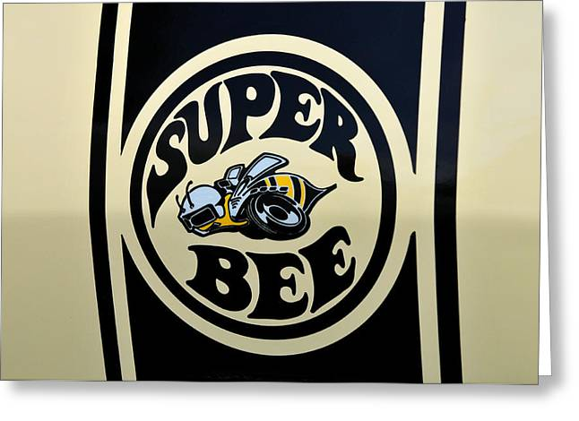Dodge Super Bee Insignia Greeting Cards - 69 Dodge Super Bee Greeting Card by Thomas Schoeller