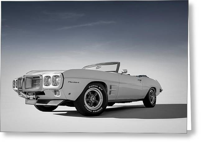 Vintage Automobiles Greeting Cards - 69 Firebird Convertible Greeting Card by Douglas Pittman