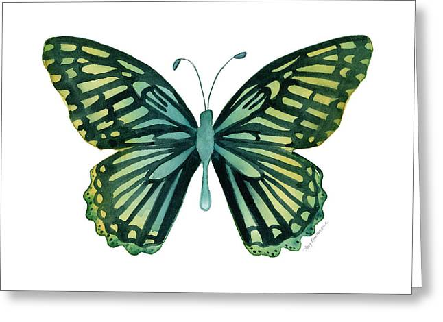 Background Paintings Greeting Cards - 69 Moonrise Mime Butterfly Greeting Card by Amy Kirkpatrick