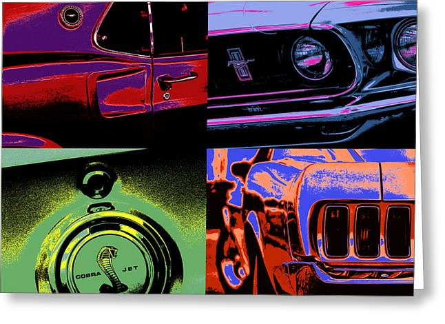 Carroll Shelby Greeting Cards - 69 Mustang Greeting Card by Gordon Dean II