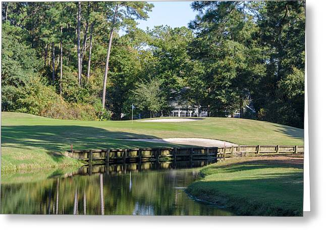 6th Hole At Litchfield C C Greeting Card by Ed Gleichman