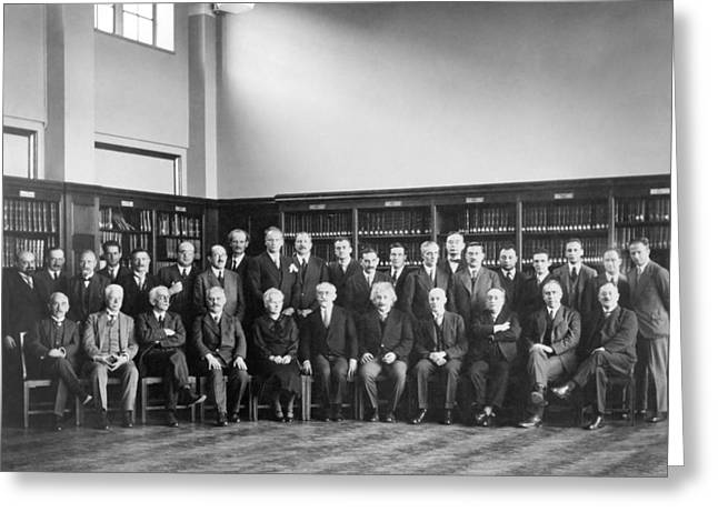 6th Solvay Conference On Physics, 1930 Greeting Card by Science Photo Library