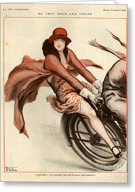 Vallee Greeting Cards - 1920s France La Vie Parisienne Greeting Card by The Advertising Archives