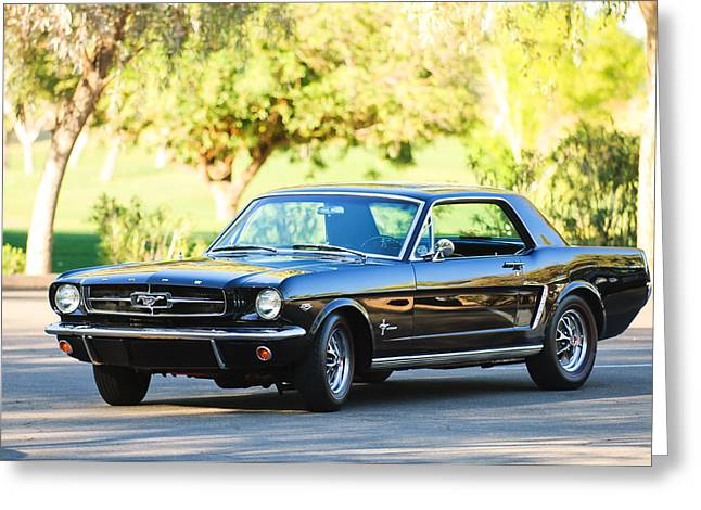 1965 Mustang Greeting Cards - 1965 Shelby Prototype Ford Mustang Greeting Card by Jill Reger