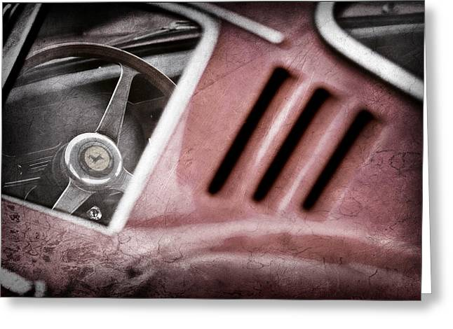 Steering Greeting Cards - 1966 Ferrari 275 Gtb Steering Wheel Emblem Greeting Card by Jill Reger