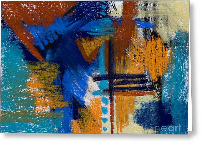 Contemporary Abstract Pastels Greeting Cards - Drips of Memory #7 Greeting Card by Tracy L Teeter