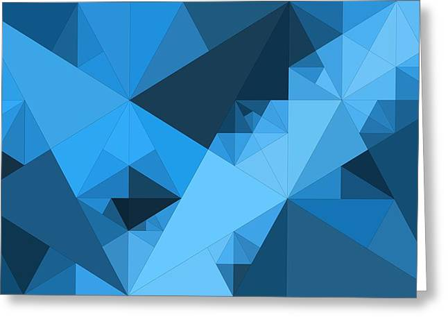 Abstraction Greeting Cards - Abstraction Composition Of Triangles Greeting Card by Victor Gladkiy