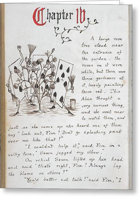 Alice's Adventures In Wonderland Greeting Card by British Library