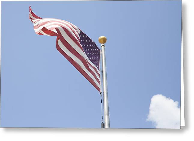 Masts Greeting Cards - American Flag Greeting Card by Brandy McKnight
