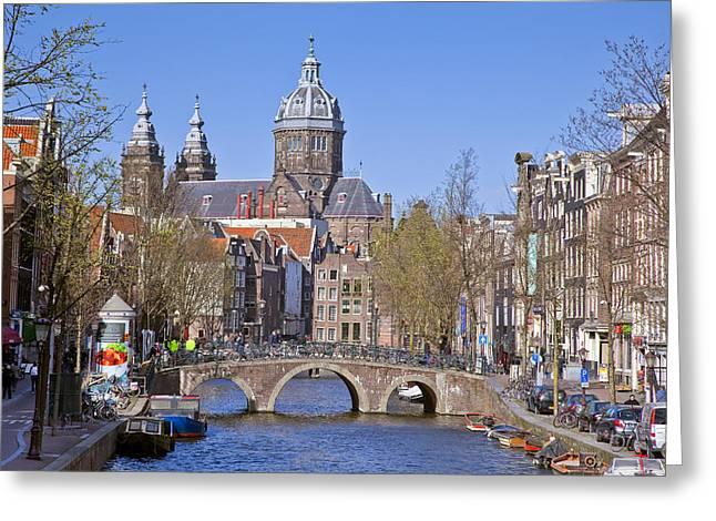 Barock Greeting Cards - Amsterdam Greeting Card by Maria Heyens