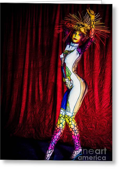 Hair Dye Greeting Cards - Anima Arcana Greeting Card by Traven Milovich