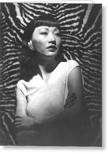 Anna Greeting Cards - Anna May Wong Greeting Card by Silver Screen