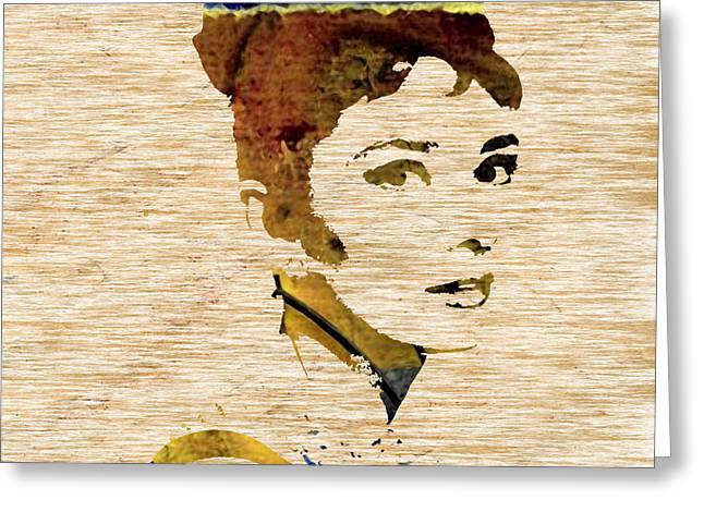 Audrey Hepburn Greeting Cards - Audrey Hepburn Greeting Card by Marvin Blaine