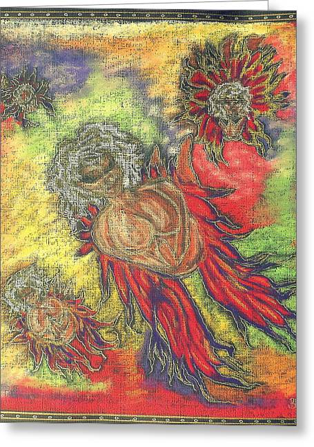 Jesus Pastels Greeting Cards - Aura Angels Greeting Card by Lyn Blore Dufty