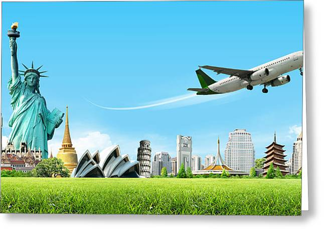 Background Travel Concept Greeting Card by Potowizard Thailand