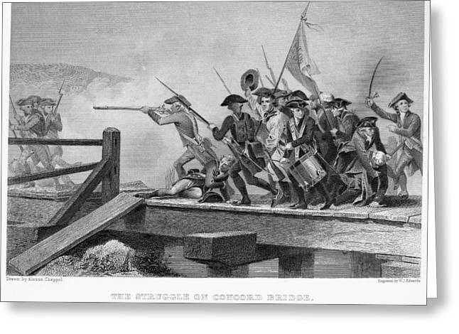 Concord Greeting Cards - Battle Of Concord, 1775 Greeting Card by Granger