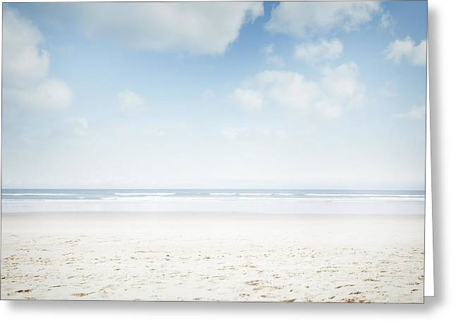 Ocean Beach Photos Greeting Cards - Beach Greeting Card by Les Cunliffe