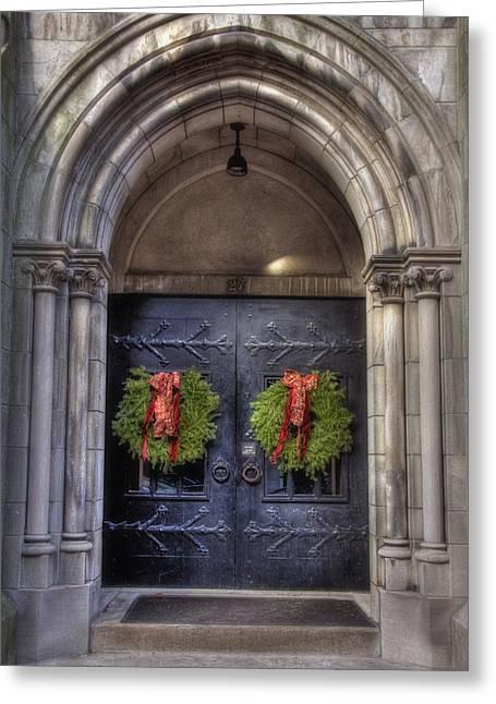 Desirable Greeting Cards - Beacon Hill Doorways Greeting Card by Joann Vitali