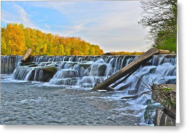 Falling Water Creek Greeting Cards - Berea Falls Greeting Card by Frozen in Time Fine Art Photography