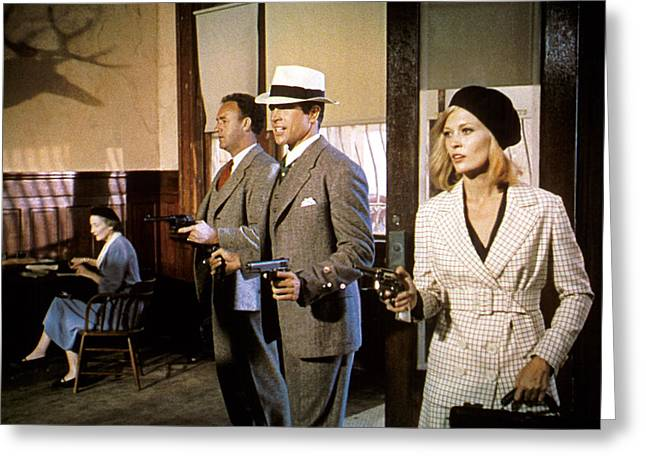 Dunaway Greeting Cards - Bonnie and Clyde  Greeting Card by Silver Screen
