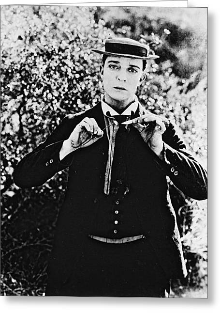 Keaton Greeting Cards - Buster Keaton Greeting Card by Silver Screen