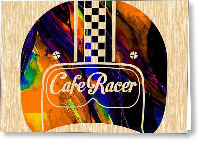 Motorcycle Greeting Cards - Cafe Racer Greeting Card by Marvin Blaine