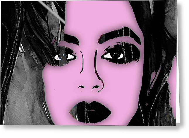 Cool Art Greeting Cards - Charli XCX Collection Greeting Card by Marvin Blaine