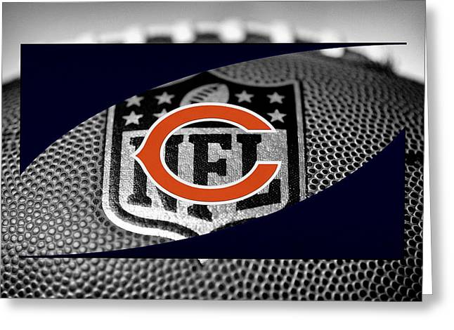 Player Photographs Greeting Cards - Chicago Bears Greeting Card by Joe Hamilton