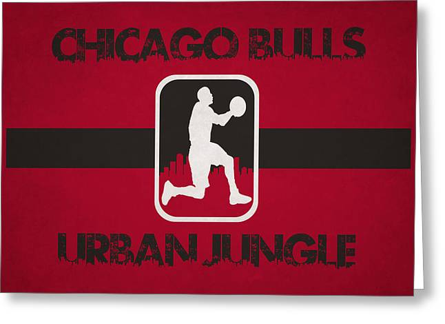 Chicago Bulls Greeting Cards - Chicago Bulls Greeting Card by Joe Hamilton