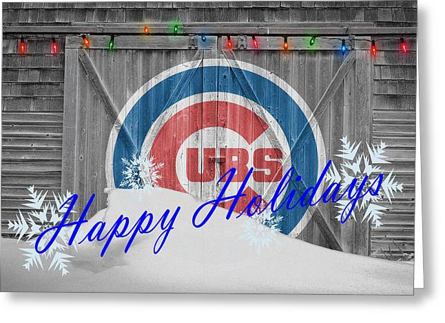 Field Greeting Cards - Chicago Cubs Greeting Card by Joe Hamilton